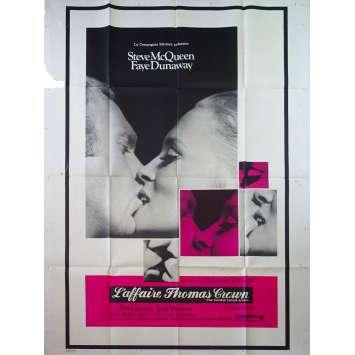 L'AFFAIRE THOMAS CROWN Affiche de film - 120x160 cm. - 1968 - Steve McQueen, Norman Jewison