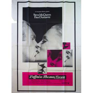 THE THOMAS CROWN AFFAIR French Movie Poster - 47x63 in. - 1968 - Norman Jewison, Steve McQueen