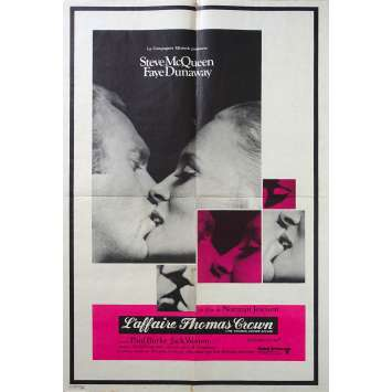THE THOMAS CROWN AFFAIR French Movie Poster - 23x32 in. - 1968 - Norman Jewison, Steve McQueen