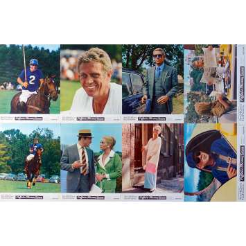 THE THOMAS CROWN AFFAIR French Lobby Cards x8 - 9x12 in. - 1968 - Norman Jewison, Steve McQueen