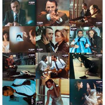 LA CRIME Photos de film x12 - 21x30 cm. - 1983 - Claude Brasseur, Philippe Labro