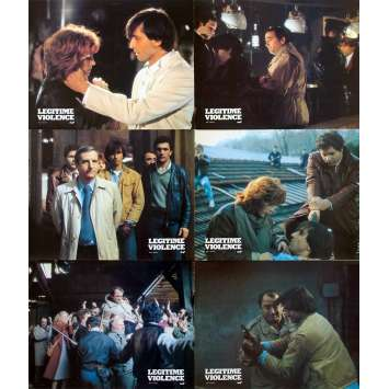 LEGITIME VIOLENCE French Lobby Cards x6 - 9x12 in. - 1982 - Serge Leroy, Claude Brasseur