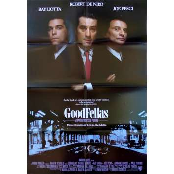 LES AFFRANCHIS Affiche de film US - 69x102 cm. - 1990 - Robert de Niro, Martin Scorsese