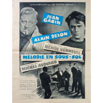 ANY NUMBER CAN WIN French Movie Poster Style B - 23x32 in. - 1963 - Henri Verneuil, Alain Delo, Jean Gabin
