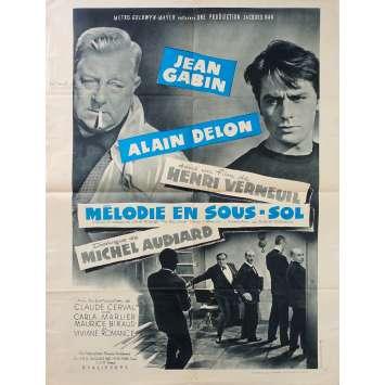 MELODIE EN SOUS SOL Affiche de film Style B - 60x80 cm. - 1963 - Alain Delo, Jean Gabin, Henri Verneuil