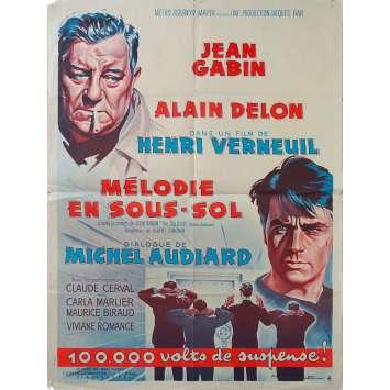 MELODIE EN SOUS SOL Affiche de film Style A - 60x80 cm. - 1963 - Alain Delo, Jean Gabin, Henri Verneuil