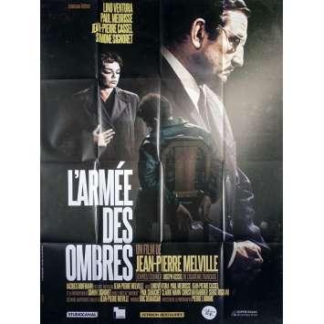 L'ARMEE DES OMBRES Affiche de film - 120x160 cm. - R1990 - Lino Ventura, Jean-Pierre Melville