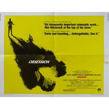 OBSESSION Affiche de film - 55x71 cm. - 1976 - Cliff Robertson, Brian de Palma