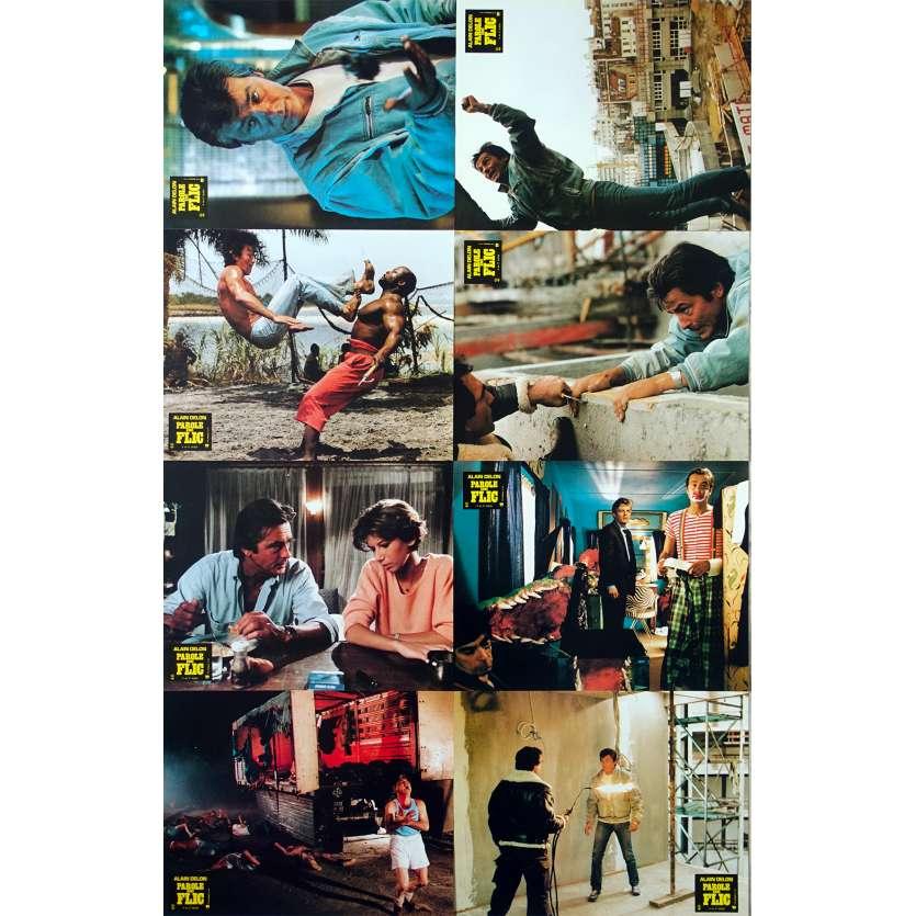 COP'S HONOR French Lobby Cards x8 - 9x12 in. - 1985 - José Pinheiro, Alain Delon