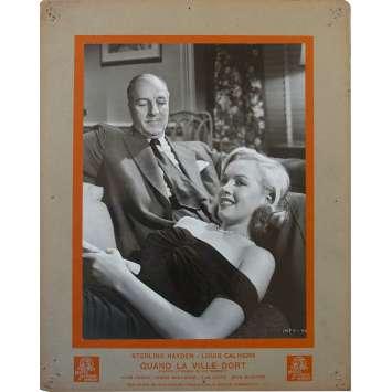 QUAND LA VILLE DORT Photo de film N3 - 24x30 cm. - 1950 - Sterling Hayden, Marylin Monroe, John Huston
