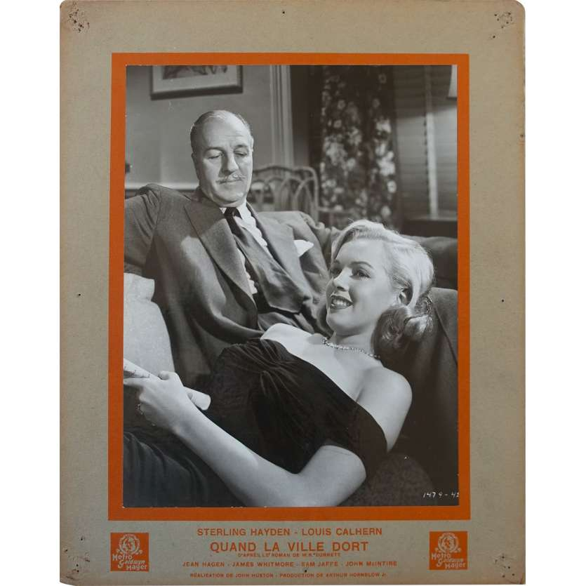 THE ASPHALT JUNGLE French Lobby Card N3 - 10x12 in. - 1950 - John Huston, Sterling Hayden, Marylin Monroe