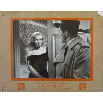 THE ASPHALT JUNGLE French Lobby Card N2 - 10x12 in. - 1950 - John Huston, Sterling Hayden, Marylin Monroe