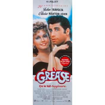 GREASE French Movie Poster - 23x63 in. - R1980 - Randal Kleiser, John Travolta