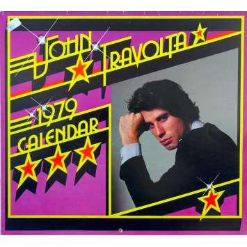 JOHN TRAVOLTA French Calendar - 12x15 in. - 1979 - John Badham, John Travolta