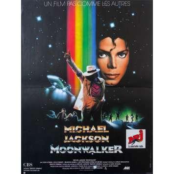 MOONWALKER French Movie Poster - 15x21 in. - 1988 - Jerry Kramer, Michael Jackson