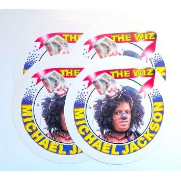 THE WIZ Autocollant x4 - 15x15 cm. - 1978 - Michael Jackson, Sidney Lumet