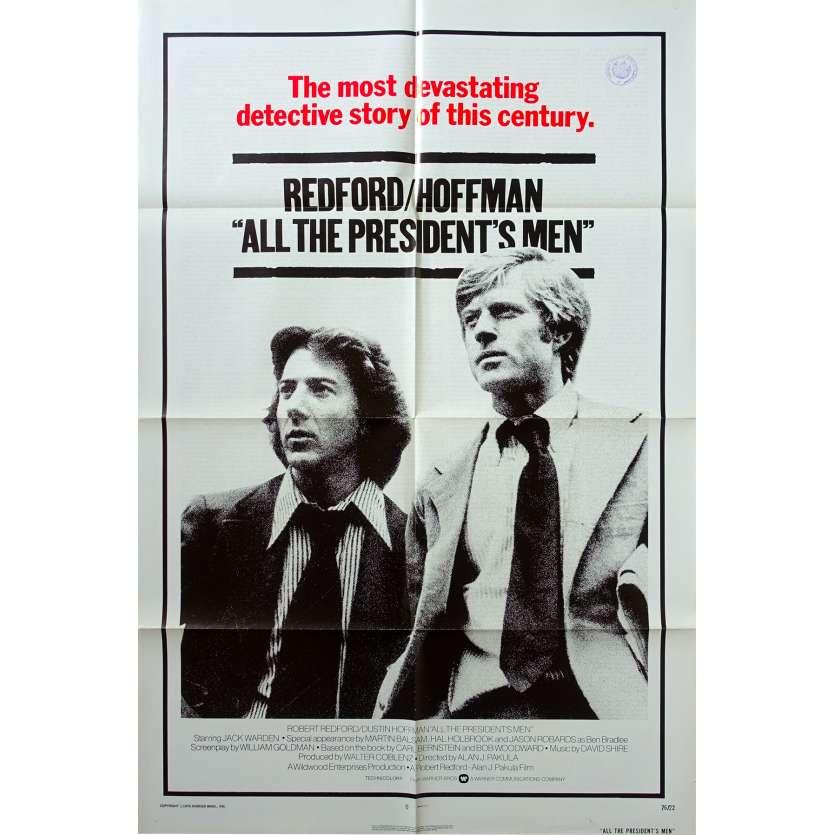 LES HOMMES DU PRESIDENT Affiche de film 69x104 - 1976 - Hoffmann, Redford, watergate