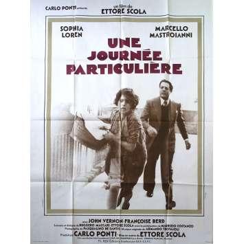 UNE JOURNEE PARTICULIERE Affiche de film - 120x160 cm. - 1977 - Sophia Loren, Marcello Mastroianni, Ettore Scola