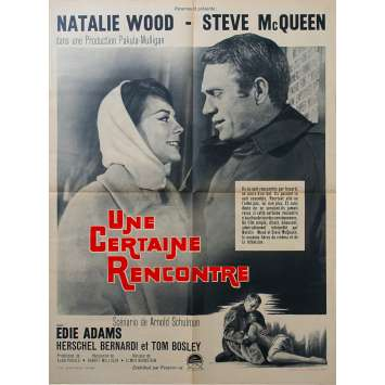 UNE CERTAINE RENCONTRE Affiche de film - 60x80 cm. - 1962 - Steve McQueen, Robert Mulligan