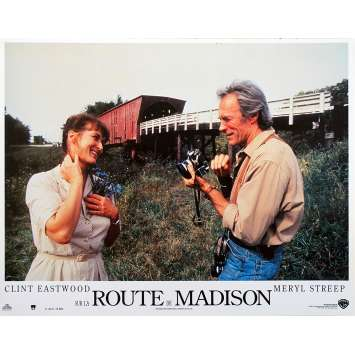 SUR LA ROUTE DE MADISON Photo de film N05 - 21x30 cm. - 1995 - Meryl Streep, Clint Eastwood