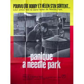 THE PANIC IN NEEDLE PARK French Movie Poster - 47x63 in. - 1971 - Jerry Schatzberg, Al Pacino