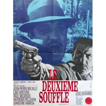 LE DEUXIEME SOUFFLE Affiche de film - 60x80 cm. - 1966 - Lino Ventura, Jean-Pierre Melville