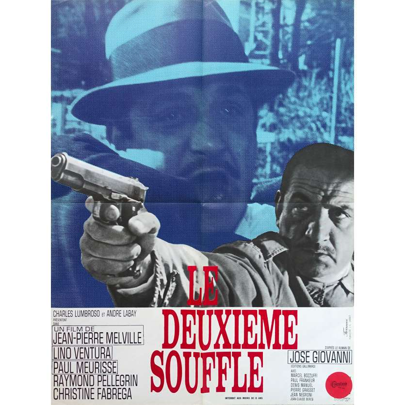 SECOND BREATH French Movie Poster - 23x32 in. - 1966 - Jean-Pierre Melville, Lino Ventura