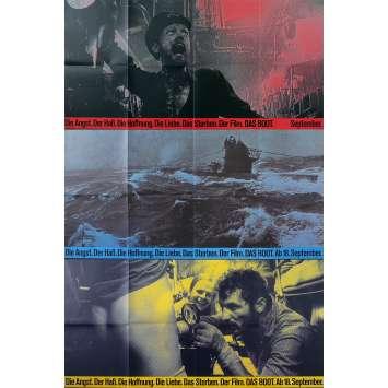 LE BATEAU Affiches de film x3 - 21x30 cm. - 1981 - Jürgen Prochnov, Wolfgang Petersen
