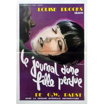 DIARY OF A LOST GIRL French Movie Poster - 15x21 in. - R1970 - Georg Wilhelm Pabst, Louise Brooks