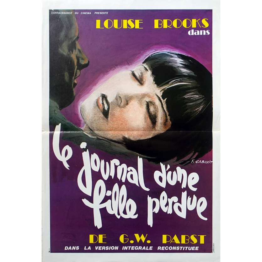 JOURNAL D'UNE FILLE PERDUE Affiche de film - 40x60 cm. - R1970 - Louise Brooks, Georg Wilhelm Pabst