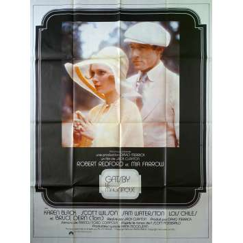 THE GREAT GATSBY French Movie Poster - 47x63 in. - 1974 - Jack Clayton, Warren Beatty