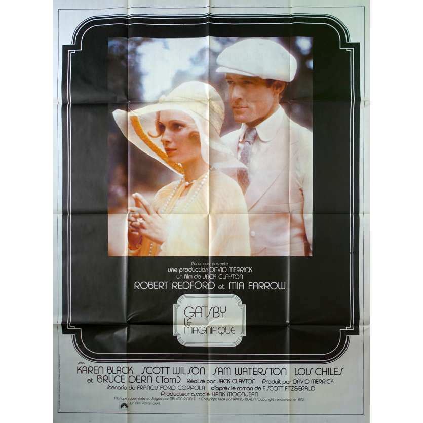 GATSBY LE MAGNIFIQUE Affiche de film - 120x160 cm. - 1974 - Warren Beatty, Jack Clayton