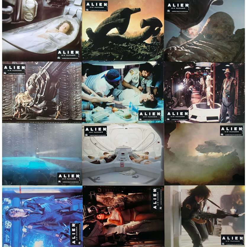ALIEN French Lobby Cards x12 - 9x12 in. - 1979 - Ridley Scott, Sigourney Weaver