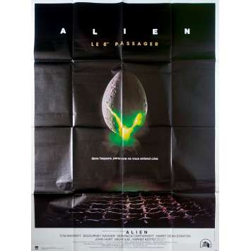 ALIEN Affiche de film - 120x160 cm. - R1980 - Sigourney Weaver, Ridley Scott