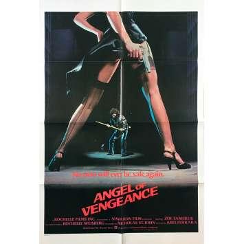 L'ANGE DE LA VENGEANCE Affiche de film - 69x102 cm. - 1981 - Zoë Lund, Abel Ferrara