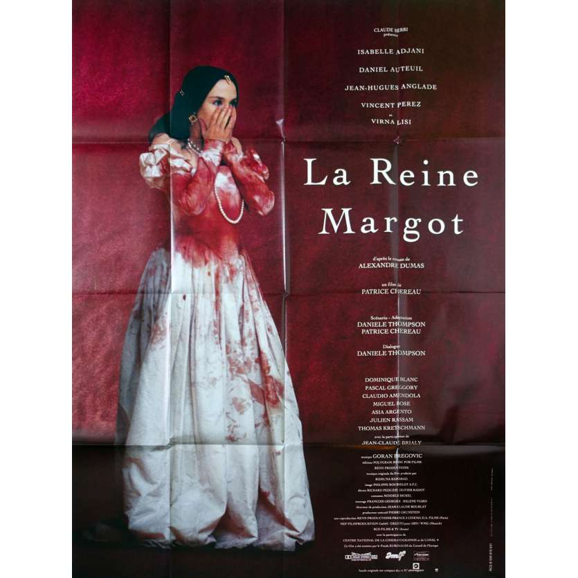 QUEEN MARGOT French Movie Poster 47x63- 1994 - Patrice Chéreau, Isabelle Adjani