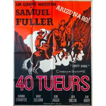 40 TUEURS Affiche de film - 120x160 cm. - 1957 - Barbara Stanwyck, Samuel Fuller