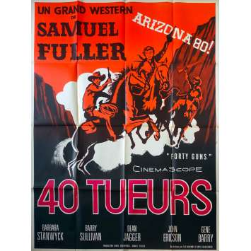 FORTY GUNS French Movie Poster - 47x63 in. - 1957 - Samuel Fuller, Barbara Stanwyck