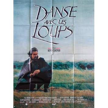 DANCE WITH WOLVES French Movie Poster - 47x63 in. - 1990 - Kevin Costner, Mary McDowell