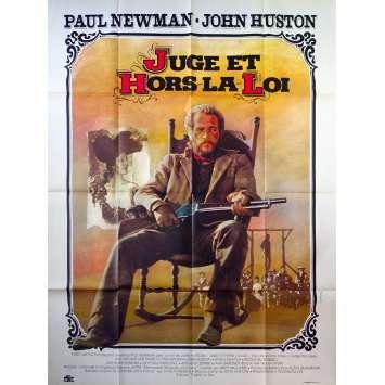 JUGE ET HORS LA LOI Affiche de film - 120x160 cm. - 1972 - Paul Newman, John Huston