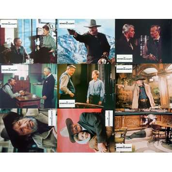 THE SHOOTIST French Lobby Cards x9 - 9x12 in. - 1976 - Don Siegel, John Wayne