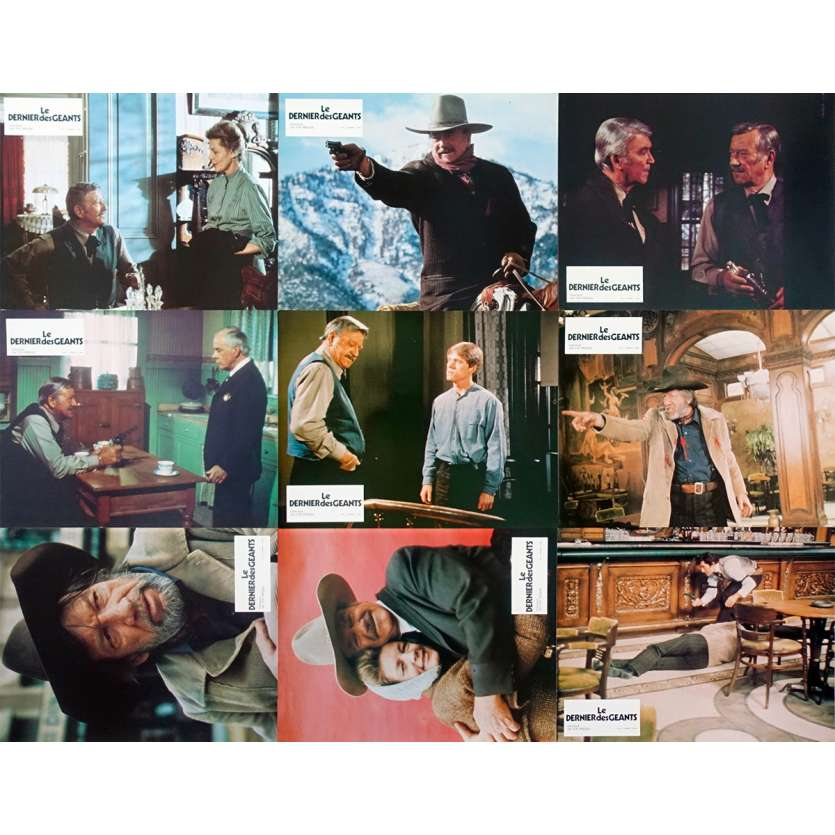 LE DERNIER DES GEANTS Photos de film x9 - 21x30 cm. - 1976 - John Wayne, Don Siegel