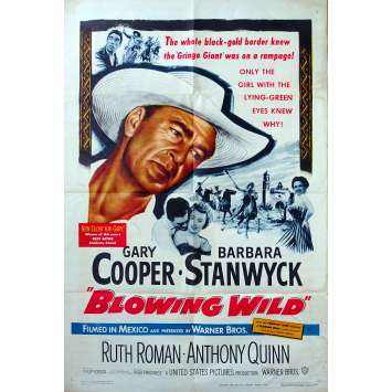 BLOWING WILD US Movie Poster - 27x40 in. - 1953 - Hugo Fregonese, Gary Cooper