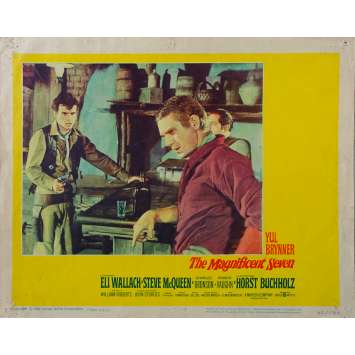 MAGNIFICENT SEVEN US Lobby Card N07 - 11x14 in. - 1960 - Yul Brynner, Steve McQueen
