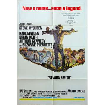NEVADA SMITH US Movie Poster - 27x40 in. - 1966 - Henry Hathaway, Steve McQueen