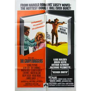 NEVADA SMITH / THE CARPETBAGGERS US Movie Poster - 27x40 in. - 1966 - Henry Hathaway, Steve McQueen