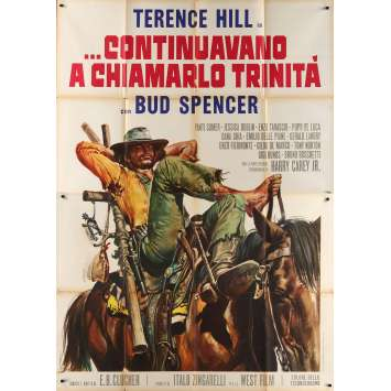 TRINITY IS STILL MY NAME Italian Movie Poster - 55x70 in. - 1971 - Enzo Barboni, Terence Hill, Bud Spencer