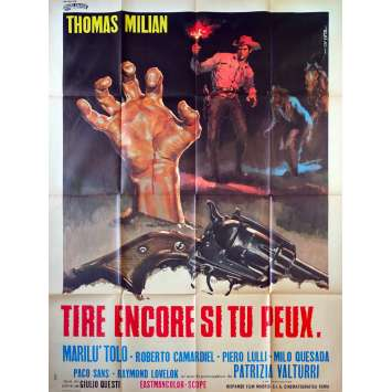 DJANGO KILL… IF YOU LIVE, SHOOT! French Movie Poster - 47x63 in. - 1967 - Giulio Questi, Tomas Milian