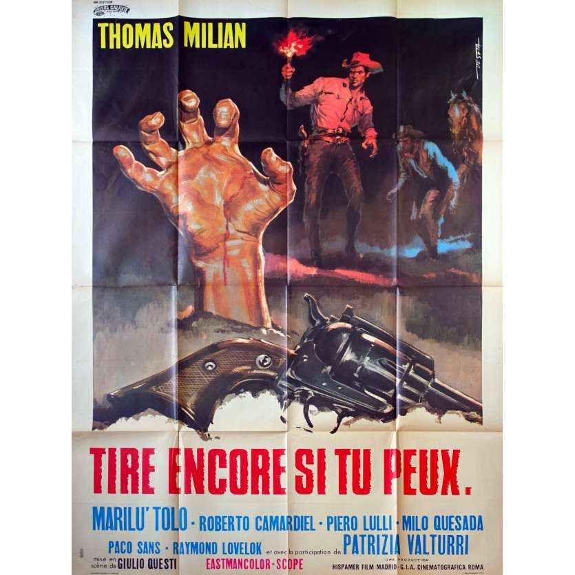 DJANGO KILL… IF YOU LIVE, SHOOT! French Movie Poster - 47x63 in. - 1967 - Giulio Questi, Tomas Milian