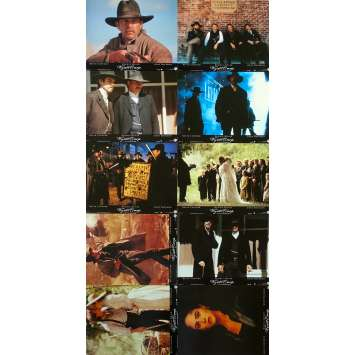 WYATT EARP French Lobby Cards x10 - 9x12 in. - 1994 - Lawrence Kasdan, Kevin Costner